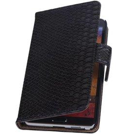 iHoez.nl Snake Samsung Galaxy Note 2 Boekhoesje Zwart