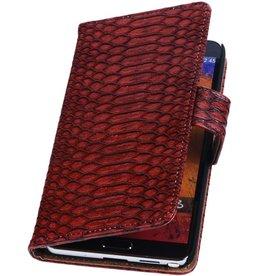iHoez.nl Snake Samsung Galaxy Note 2 Boekhoesje Rood