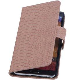 iHoez.nl Snake Samsung Galaxy Note 2 Boekhoesje Licht Roze