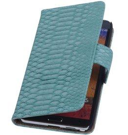 iHoez.nl Snake Samsung Galaxy Note 2 Boekhoesje Turquoise
