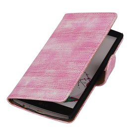 iHoez.nl Lizard LG G4c mini Boekhoesje roze