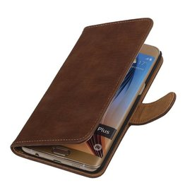 iHoez.nl Bark Samsung Galaxy S6 edge Plus Boekhoesje Bruin