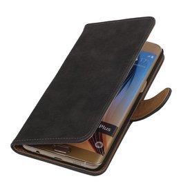 iHoez.nl Bark  Samsung Galaxy S6 edge Plus Boekhoesje Grijs