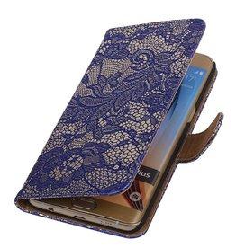 iHoez.nl Lace Samsung Galaxy S6 edge Plus Boekhoesje Blauw