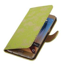iHoez.nl Lace Samsung Galaxy S6 edge Plus Boekhoesje groen