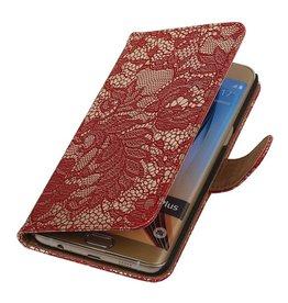 iHoez.nl Lace Samsung Galaxy S6 edge Plus Boekhoesje Rood