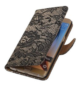 iHoez.nl Lace Samsung Galaxy S6 edge Plus Boekhoesje Zwart