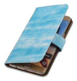 iHoez.nl Lizard Samsung Galaxy S6 edge Plus Boekhoesje Turquoise