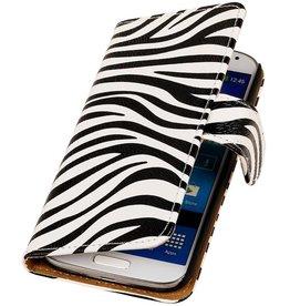iHoez.nl Zebra Samsung Galaxy Express 2 Boekhoesje Wit