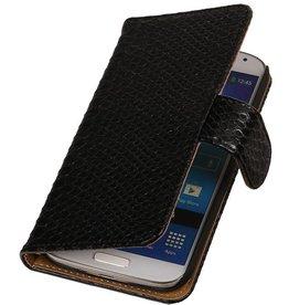 iHoez.nl Snake Samsung Galaxy Express 2 Boekhoesje Zwart
