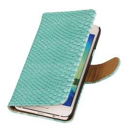 iHoez.nl Snake Samsung Galaxy A5 Turquoise Boekhoesje