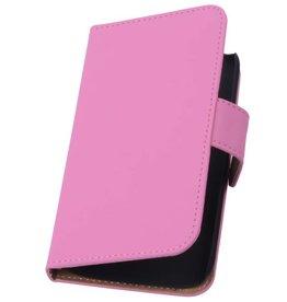 iHoez.nl Effen HTC Desire 700 Roze Boekhoesje