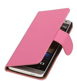 iHoez.nl HTC Desire 500 hoesje Boek Classic Roze