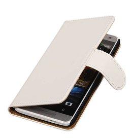 iHoez.nl HTC Desire 500 hoesje Boek Classic Wit