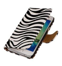 iHoez.nl Zebra HTC Desire 516 Wit Boekhoesje