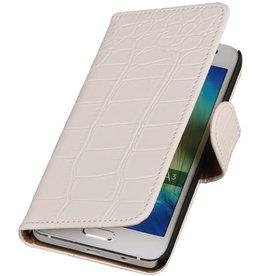 iHoez.nl Croco HTC Desire 516 Wit Boekhoesje