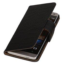 iHoez.nl Croco HTC Desire 500 Zwart Boekhoesje