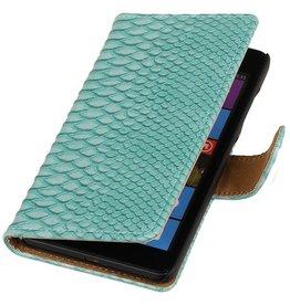 iHoez.nl Snake Microsoft Lumia 535 Turquoise Boekhoesje
