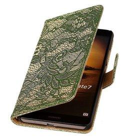 iHoez.nl Lace Microsoft Lumia 535 Donker groen Boekhoesje