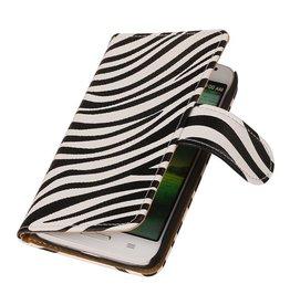 iHoez.nl Zebra LG G2 Mini Wit Boekhoesje