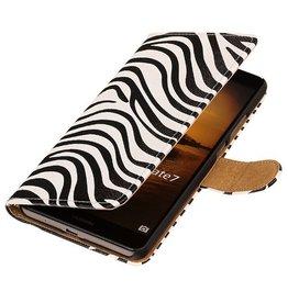 iHoez.nl Zebra Huawei Honor 3C Wit Boekhoesje