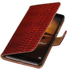 iHoez.nl Snake Huawei Honor 3C Rood Boekhoesje