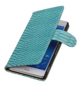 iHoez.nl Snake Sony Xperia Z3 Turquoise Boekhoesje