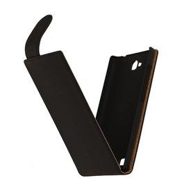 iHoez.nl Flip Hoes voor Sony Xperia Z3 Zwart