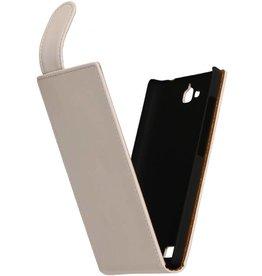 iHoez.nl Flip Hoes voor Sony Xperia Z3 Wit