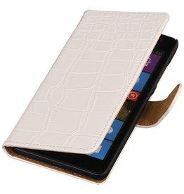 iHoez.nl Croco Microsoft Lumia 532 hoesje Wit