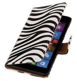 iHoez.nl Zebra Microsoft Lumia 532 Boekhoesje