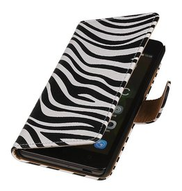 iHoez.nl Zebra Sony Xperia C4 Wit Boekhoesje