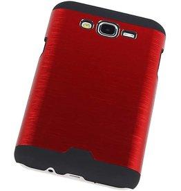 iHoez.nl Hardcase Galaxy J7 Lichte Aluminium Rood