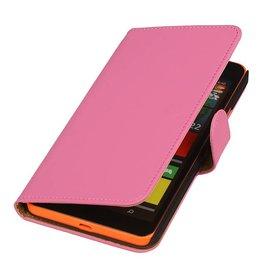 iHoez.nl Microsoft Lumia 640 XL Hoesje Boek Roze