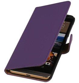 iHoez.nl HTC One M9 Plus Hoesje Boek Paars