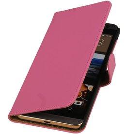 iHoez.nl HTC One M9 Plus Hoesje Boek Roze