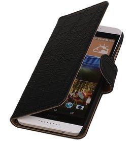 iHoez.nl Croco HTC Desire 320 Zwart Boekhoesje