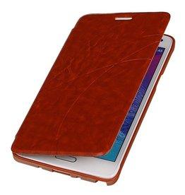 iHoez.nl Easy Samsung Galaxy Note 4 Bruin Boekhoesje