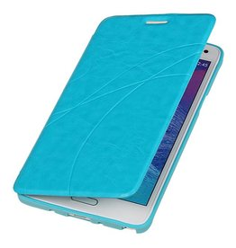 iHoez.nl Easy Samsung Galaxy Note 4 Turquoise Boekhoesje
