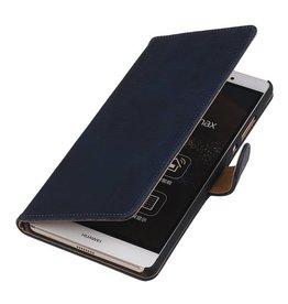 iHoez.nl Bark Huawei P8 Max Diep Blauw Boekhoesje