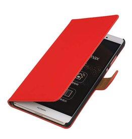 iHoez.nl Huawei P8 Max Hoesje Boek Rood