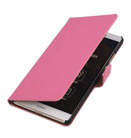 iHoez.nl Huawei P8 Max Hoesje Boek Roze