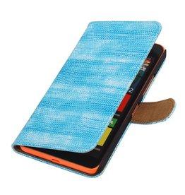 iHoez.nl Lizard Microsoft Lumia 640 XL Turquoise Boekhoesje