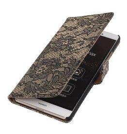 iHoez.nl Lace Sony Xperia E4g Zwart Boekhoesje