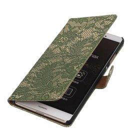 iHoez.nl Lace Sony Xperia E4g Donker groen Boekhoesje