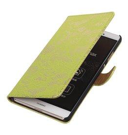 iHoez.nl Lace Sony Xperia E4g Groen Boekhoesje
