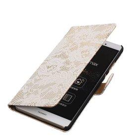 iHoez.nl Lace Sony Xperia E4g Wit Boekhoesje