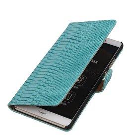 iHoez.nl Snake Sony Xperia E4g Turquoise Boekhoesje