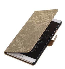 iHoez.nl Lace Sony Xperia Z4 Compact Goud Boekhoesje