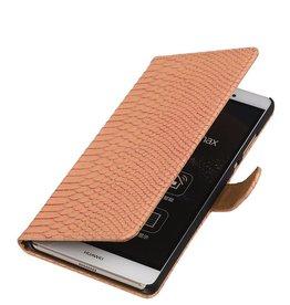 iHoez.nl Snake Sony Xperia Z4 Compact Licht Roze Boekhoesje
